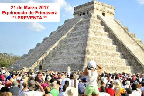 Chichen Itza from Cancun (Equinox March 21, 2017)
